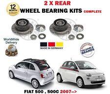 PER FIAT 500 + 500C 2007> NUOVO 2 x cuscinetto ruota Posteriore Kit con sensore