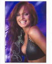 Christy Hemme Autographed 8x10 - TNA Blue