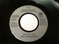 BRYAN ADAMS . BACK TO YOU (MTV UNPLUGGED ) / HEY ELVIS .1997 RARE PROMO NR MINT