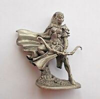 1/32 Elf Archer Fantasy Girl Female warrior Tin Metal Soldier 54mm handmade NEW
