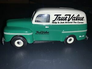 True Value 1950 Ford Panel Van No. 23 Bank by ERTL (2004) Small mark on back