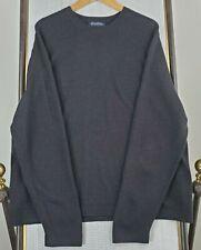 Brooks Brothers Size Xl Mens 100% Extrafine Italian Merino Wool Sweater Charcoal