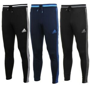 Men's Adidas Slim Fit Joggers Tracksuit Jogging Bottoms Track Pants - Navy Black