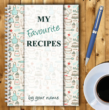 A5 PERSONALISED RECIPE PLANNER, WRITE YOUR OWN RECIPES,HEALTHY RECIPE BOOK,04