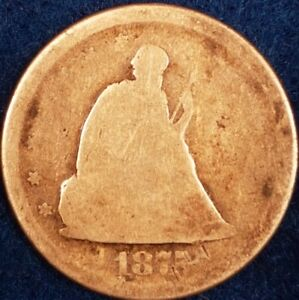 1875 San Francisco Mint 20 Cents Seated Liberty   ID #A1-8