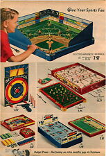 1958 ADVERT 2 PG Electro Magnetic Baseball Game Hockey Hoc Key Lithographed