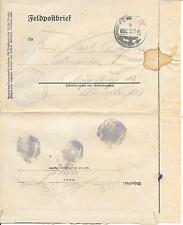 GERMANY REICH FELD POST LETTER SHEET 22/11/41; OFFICIAL HAND STAMPS.