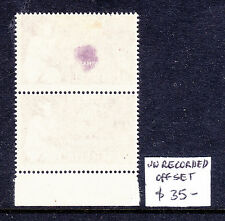 1957 CHRISTMAS 4d  WITH UNRECORDED SMALL PART OFFSET IN PAIR  MH