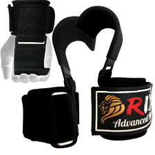 Rix Power Weight Lifting Training Gym Straps Hook Bar Wrist Support Lift Gloves