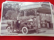 EARLY TEENS SHELL GAS STATION AND CAR   IN CA   11 X 17  PHOTO   PICTURE