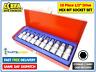 "10pc Hex Allen Key Bit Socket Set 1/2"" Drive 4mm to 19mm Storage Case NEW 31-14"