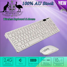 Chic White 2.4G Wireless Keyboard and Optical Mouse USB Receiver Set For Windows