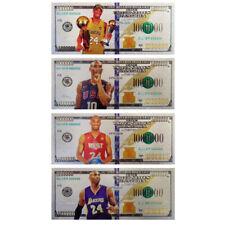 Kobe Silver Banknote #24 Black Mamba Basketball Star Novelty Bill Gifts For Fans