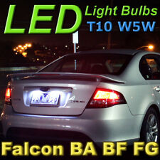 #F06 White T10 LED Number Plate Lights to fit BF FG Ford Falcon XR6 G6E FPV F6