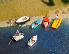 Busch x 6 Small Boat Set 1157 HO and OO Scale