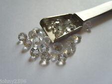 6mm white topaz natural gemstone size round cut £1.50p each.