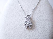collana pendente bimbo diamanti 0.26 F/vvs oro bianco 18 kt