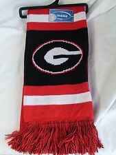 "NWT NCAA 2012 TEAM STRIPE ACRYLIC SCARF 64""x7"" - GEORGIA BULLDOGS"