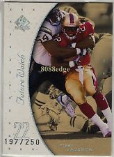 1999 SP AUTHENTIC ROOKIE CARD RC #129:TERRY JACKSON #197/250 SAN FRANCISCO 49ERS