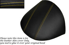 YELLOW STITCH FITS MG MGF MG TF 1995-2005 DASH COWL HOOD LEATHER SKIN COVER ONLY