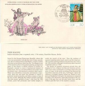 "FLEET WOOD, GERMAN D.D.R FDC, 1575, INTL. COUNCIL OF MUSEUMS,""TODI RAGINI"""