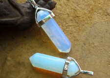 Natural Opal crystal Quartz Gemstone Stone Healing Point Chakra Pendant Charms
