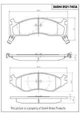 Disc Brake Pad Set-SEMI METALLIC PADS Front Dash 4 Brake MD521
