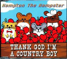 HAMPTON THE HAMSTER THANK GOD I'M A COUNTRY BOY 3 TRACK CD - EXCELLENT - VGC
