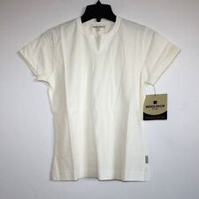 Woolrich - XS/S - NWT - Solid Ivory/Cream 100% Cotton - S/S Jersey Knit Top