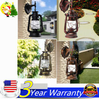 Retro Antique Vintage Rustic Lantern Lamp Wall Sconce Light Fixture Outdoor USA