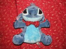 """Disney Store Original Lilo & Stitch Plush Stuffed Bean Stitch Doll w Bow Tie 10"""""""