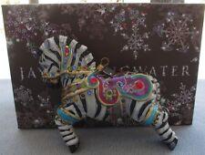 Jay Strongwater Ornament Bejeweled Zebra Swarovski Elements New in Box