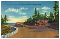VTG Color Postcard OCEAN DRIVE ACADIA NATL PARK Bar Harbor MAINE posted