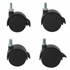 4er Set Transportrolle Kunststoff Schwarz ø60mm inkl. Bremse M10 Gewindestift