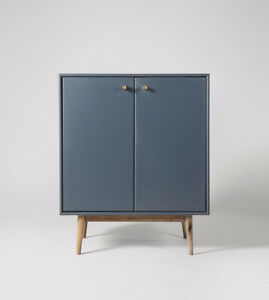 Swoon Thurlestone in China Blue and Oak stand Storage Drinks sideboard cabinet