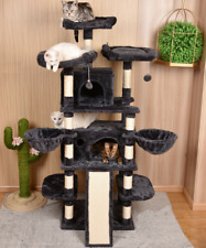 Cat Tree Condo Pet Tower Play House with Perches Hammock Furniture Activity