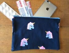 Unicorn  Mobile Phone Holder 18 x 12 cm Girls/ Ladies Australian Made Coin pouch