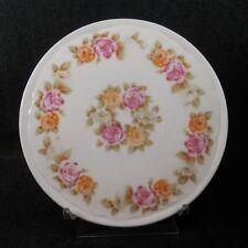 FS-00008 Rosental Porcelain Tea Tile / Trivet PINK YELLOW ROSE GARLAND