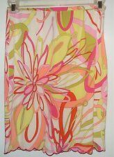 EUC Grace Elements Floral Print Pencil 100% Silk Skirt Size 4
