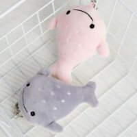 CC_ UK_ CW_ Cartoon Fish Animal Plush Stuffed Hanging Doll Keychain Ring Pendant