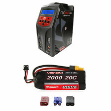 Venom 20C 2S 2000mAh 7.4V LiPo Battery and Pro Duo Charger Combo