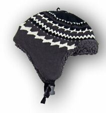 Mens Womens Fuzzy Winter Mad Bomber Ear Warmer Beanie Ski Snap Closure Hat Cap
