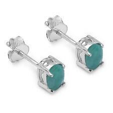 Neu Ohrstecker 925 Silber Handgefertigt 0,90Ct Smaragd Emerald #18