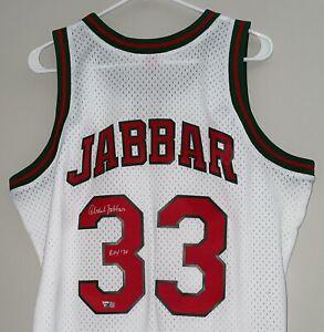 Kareem Abdul-Jabbar Signed M&N Bucks Autograph NBA Swingman Auto Jersey FANATICS