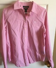 Lauren Ralph Lauren Large Pink Long Sleeve Button Front Dress Shirt