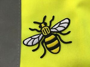 Embroidered BACKPACKERS Manchester Bee SEW Or Iron ON PATCH Face Mask Patch
