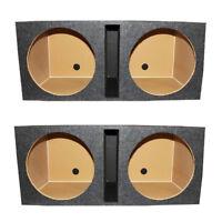 Q Power QBASS Dual 15-Inch Vented  Subwoofer Box 2 Speakers Enclosure (2 Pack)