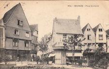 BOURGES 604 place gordaine coiffeur P. Auger magasin chaussures timbrée