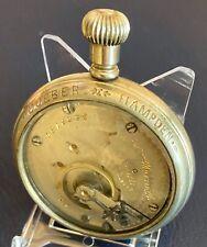 HAMPDEN POCKET WATCH  1909  17J 18S SALESMAN SAMPLE   SERVICED