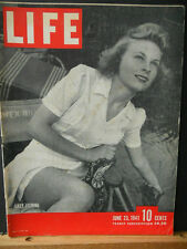 WWII Life Magazine June 23 1941 Lazy Fishing,New Battleship, Zamzam Sinking